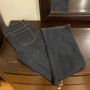 Ann Taylor Jeans with Embroidered Stitch